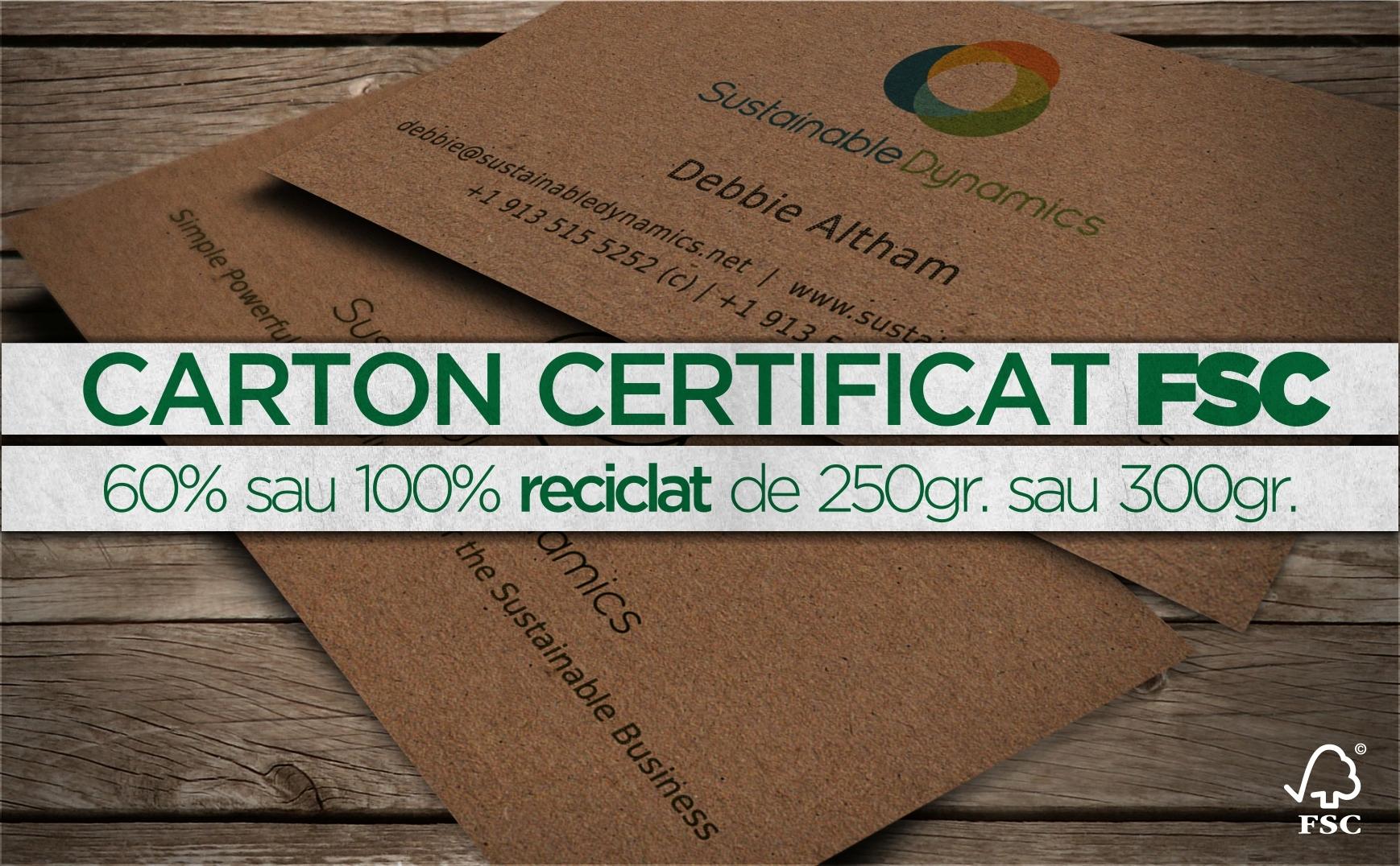 carti vizita din carton reciclat