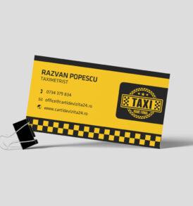carte de vizita taximetrist