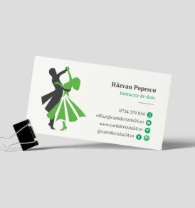 carte vizita antrenor dans