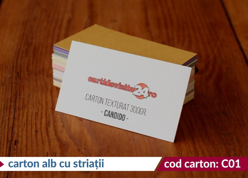 carton alb cu striatii candido
