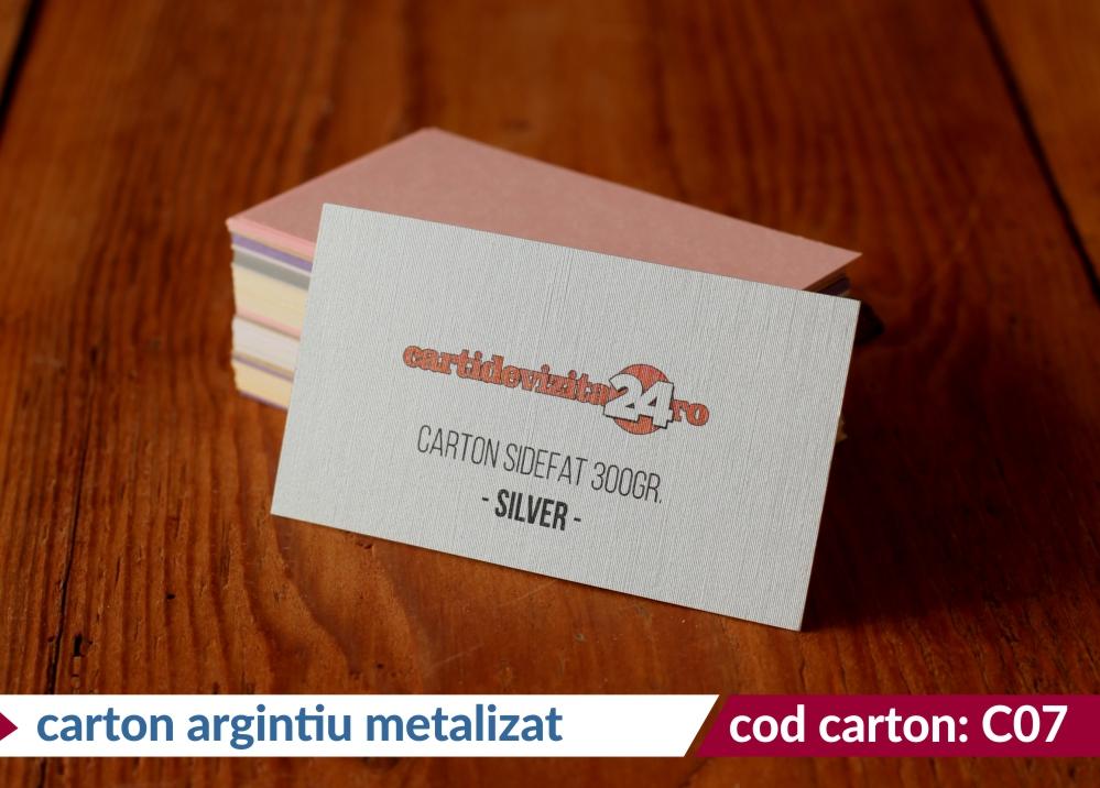 carton argintiu metalizat silver