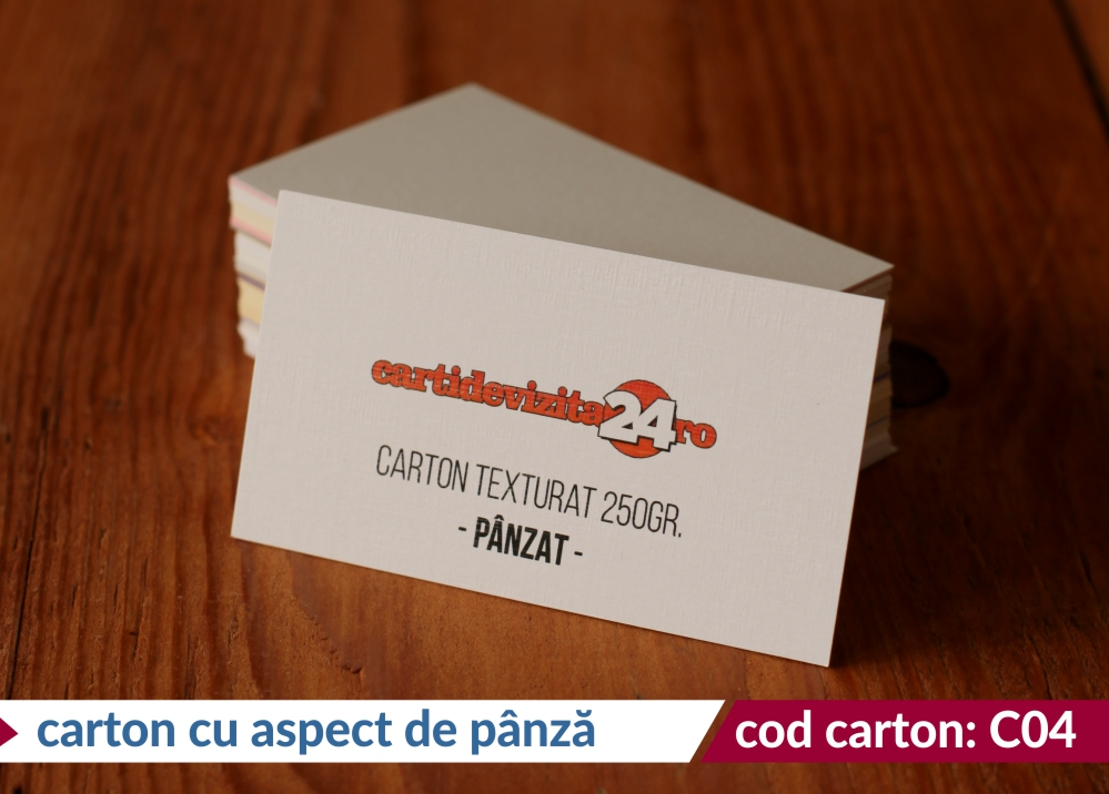 carton cu aspect de panza