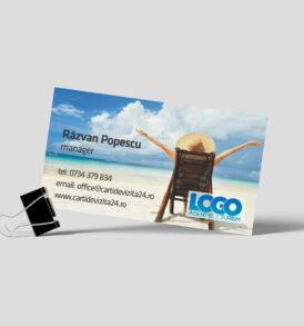 model carte de vizita turism