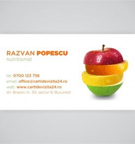 carte vizita nutritionist