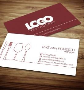model carti vizita restaurant