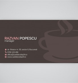 carti de vizita cafenele