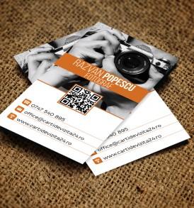 model carti de vizita fotograf