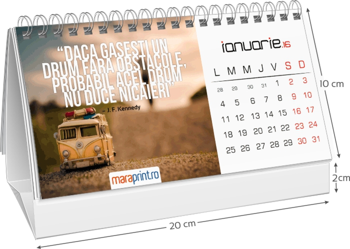 calendar triptic birou