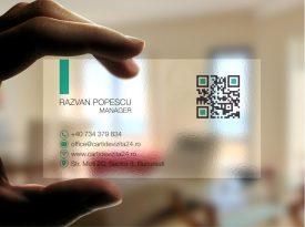 carti vizita transparente minimal design