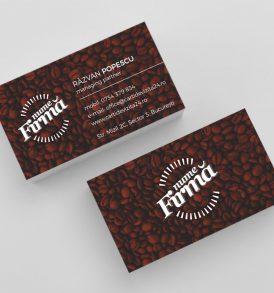 Model carti de vizita cafea