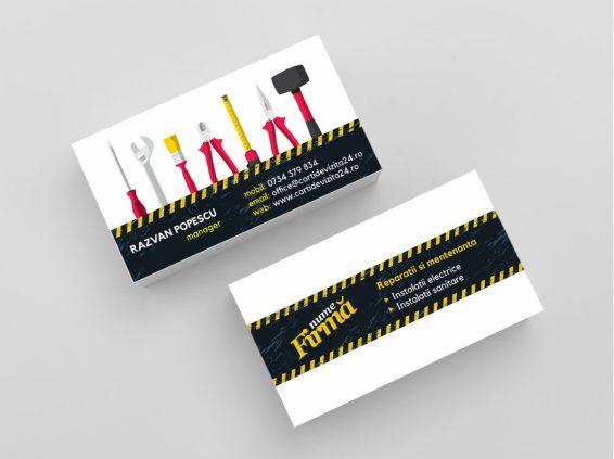 Carti de vizita tamplar - electrician - instalator
