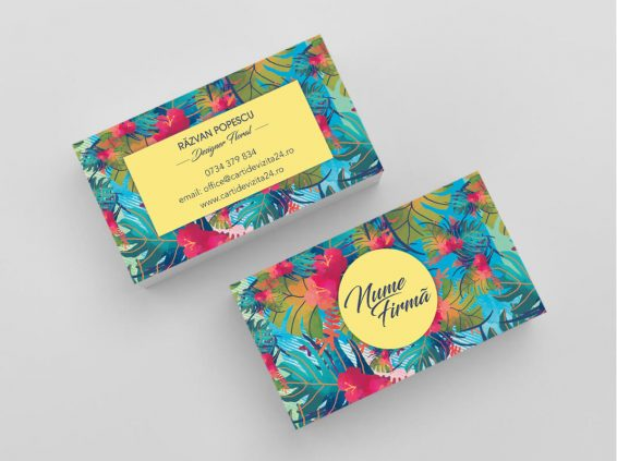 Model carti de vizita florarie