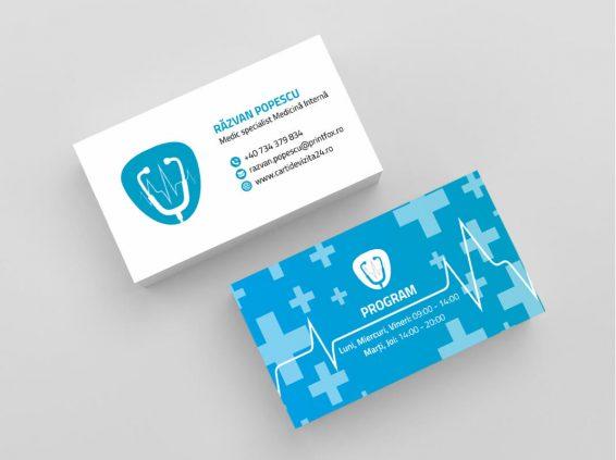 Model carti de vizita medic