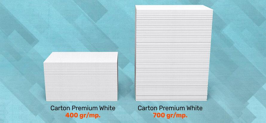 Grosime carton Premium White